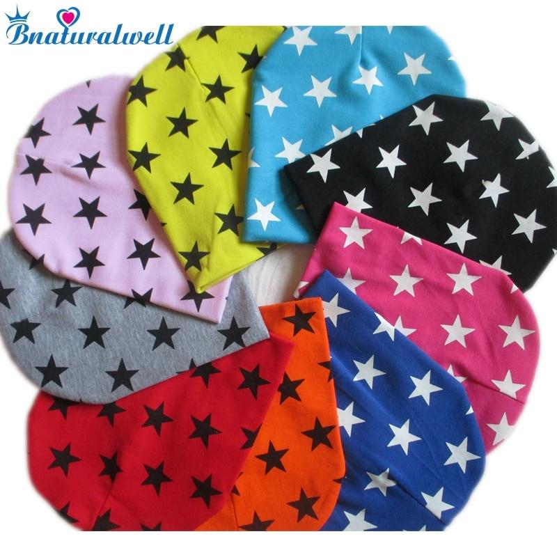 Bnaturalwell Star Baby beanie cap Toddler Girls Cotton Hat Newborn Beanies Children Infant Boys girls Winter warm hat H062