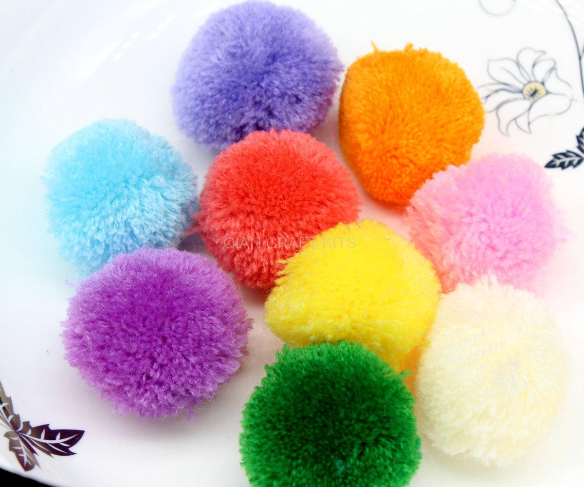 150pcs approx 40mm mix color pom pom ball pompom yarn pom. Black Bedroom Furniture Sets. Home Design Ideas