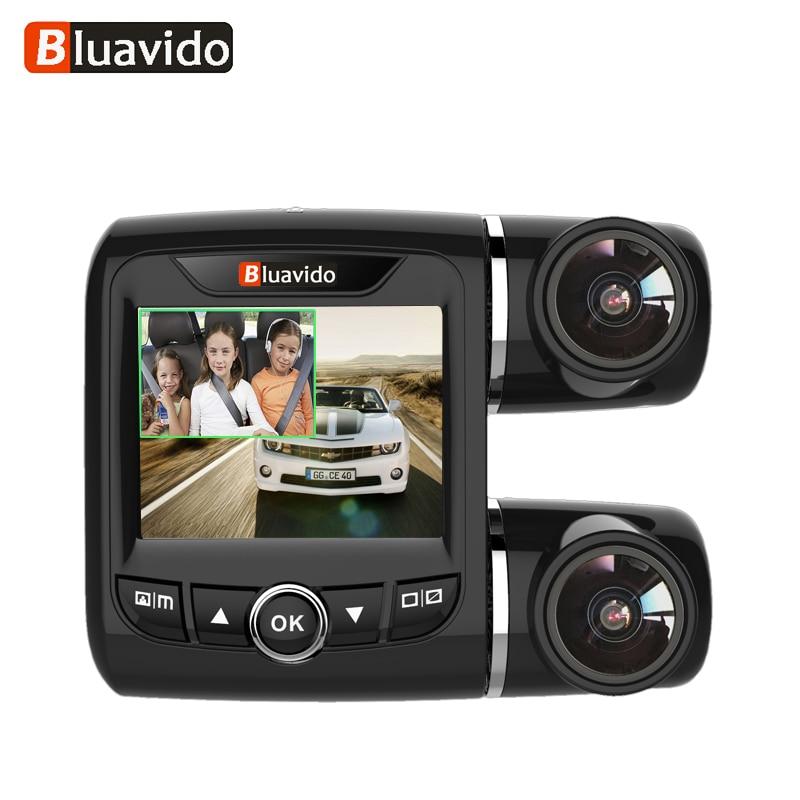 Bluavido Dual Lens FHD 1080P Car DVR Camera with 1080P Rear cam WDR Night Vision Novatek 96663 Car Video Recorder For Uber Taxi