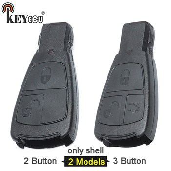 KEYECU 10x for Mercedes Benz  E C S CLK Class Replacement Keyless 2 / 3 Smart remote Key Shell Case Cover Fob