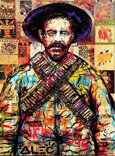 100% fait à la main Alec monopole Dilon garçon peinture à l'huile sur toile art urbain Marylin Monroe 24x36