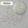 1440 (1.1-1.6mm) Cores Do Arco Íris Pedrinhas para Decoração de Unhas Nail Art Cola Em Minúsculo Zircon Pedrinhas Art DIY NC226