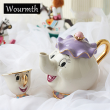 Cartoon Beauty And The Beast Tea Set Teapot Cup Mrs Potts Chip Bela E A Fera Pot Mug Kettle Milk Coffee Creative Gift With Logo