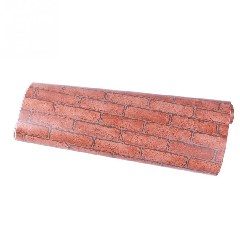 Brick stone pattern vinyl self adhesive wallpaper roll peel stick - Online Get Cheap Adhesive Contact Paper Aliexpress Com