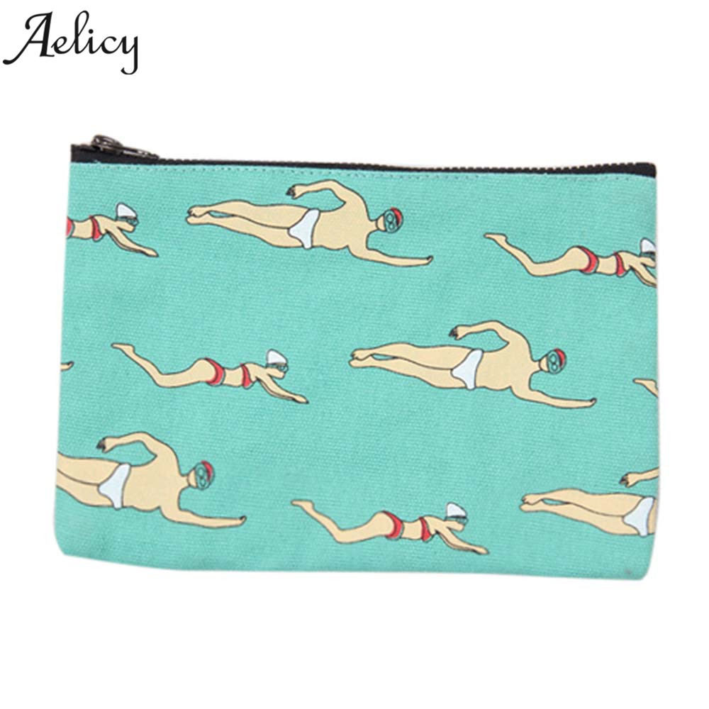 Aelicy Women Cartoon Canvas Coin Purse Change Holder Bag Children Party Gift Cartoon Cute Coin Purse Coin Small Wallet Bag texu cute cartoon animals canvas coin purse women kids key wallet mini change bag gift