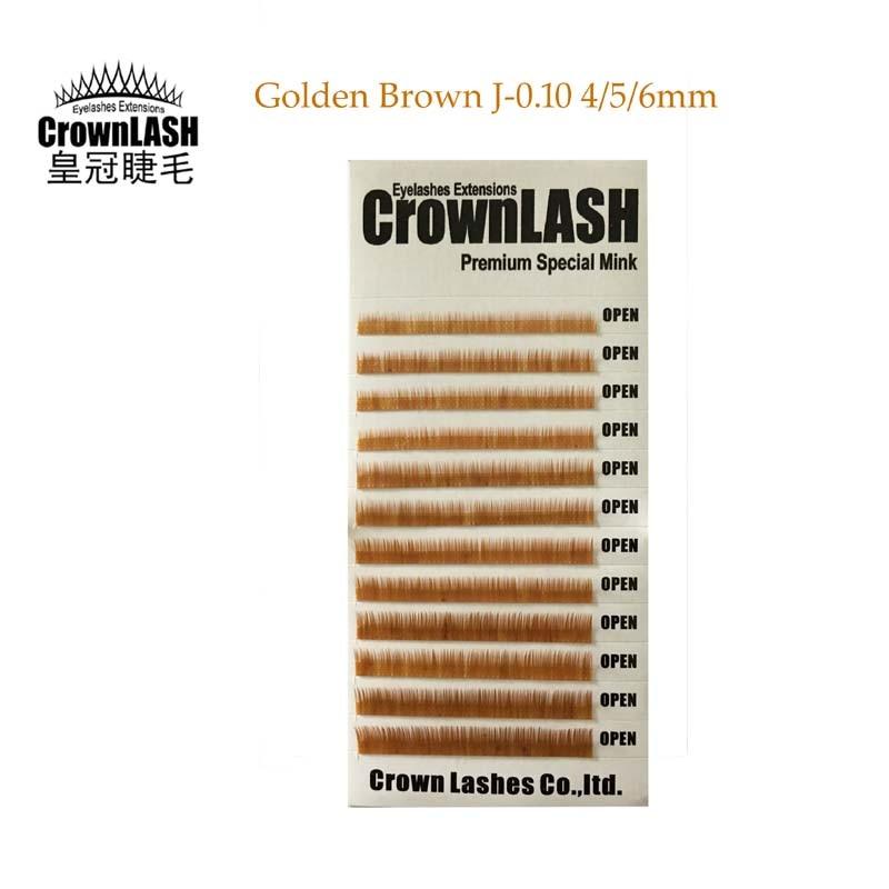 Crownlash Golden Brown J 010 456mm Eyebrow Extension Lower