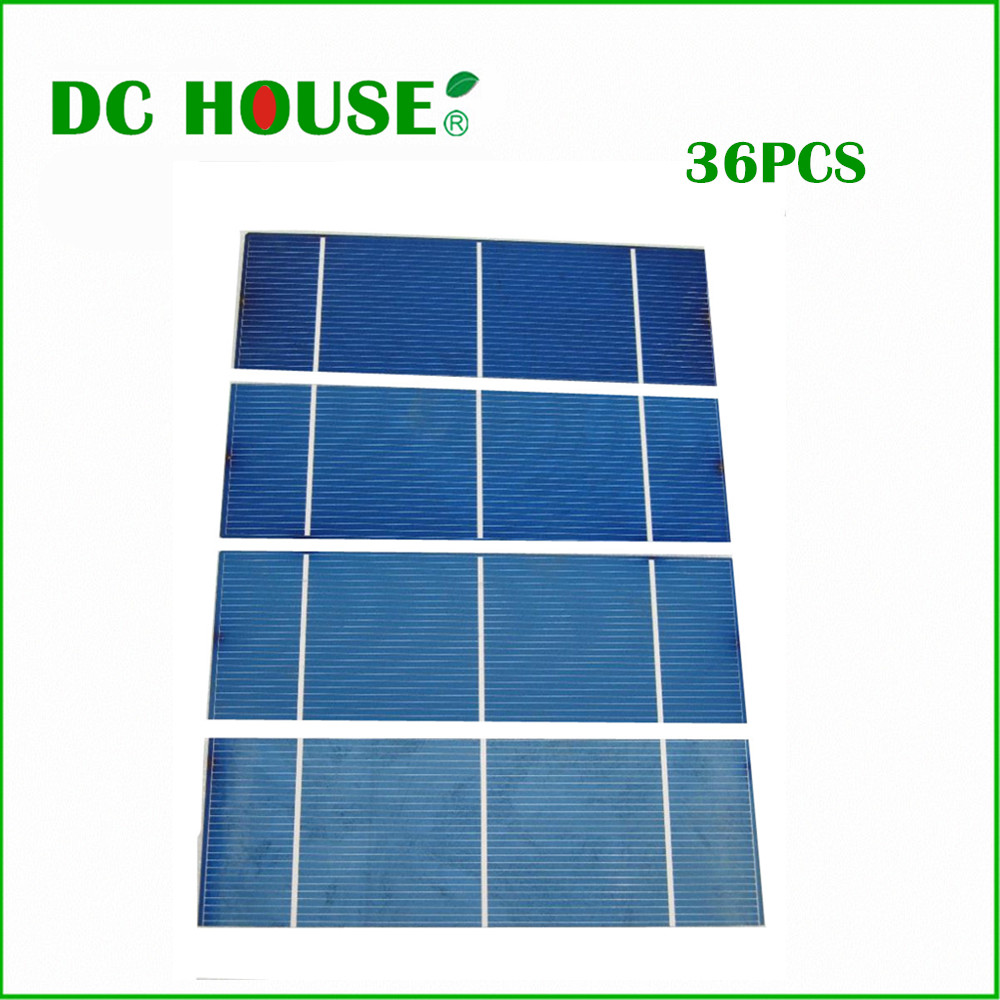 ФОТО 36pcs Polycystalline Solar Cell 2x6 16% efficiency 1.3w/pc DIY Solar Panel for home use Battery Charger Solar Generators