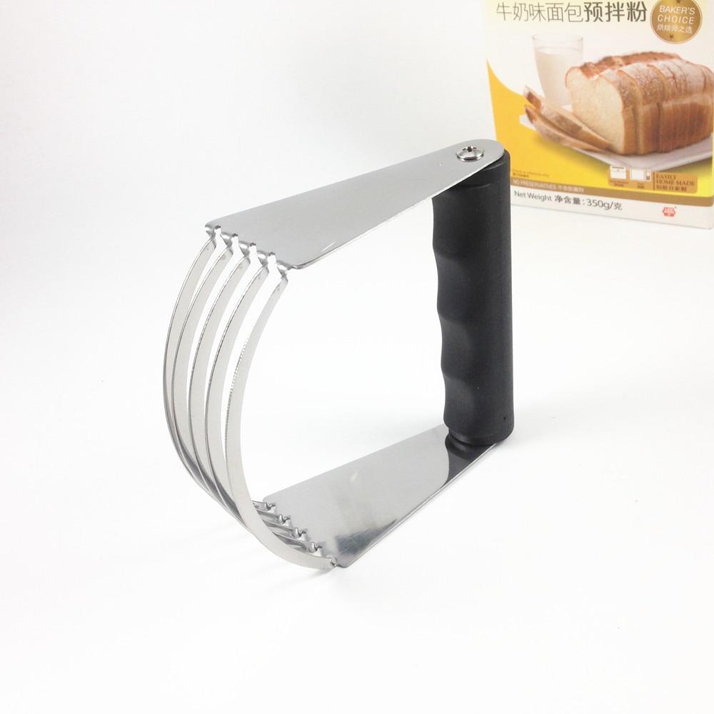Stainless Steel Pastry Dough Cutter Blender Mixer Rubber Grip Kitchen Soft Tool
