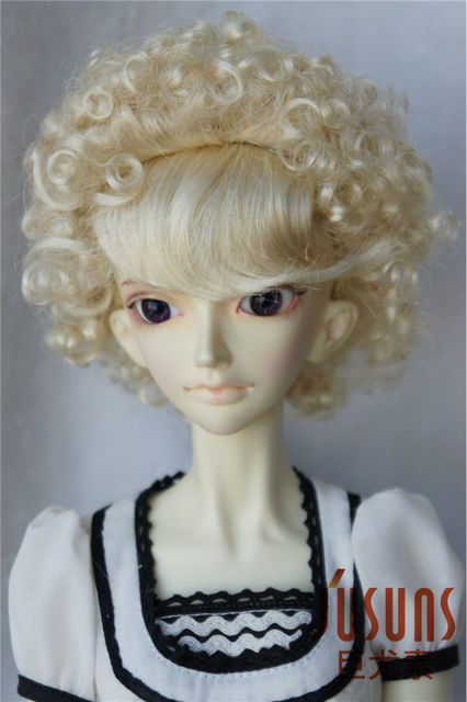 1/3 SDBJD wig  8-9inch Afro curly doll wigs Lati Red doll accessories Resin  Porcelain doll hair