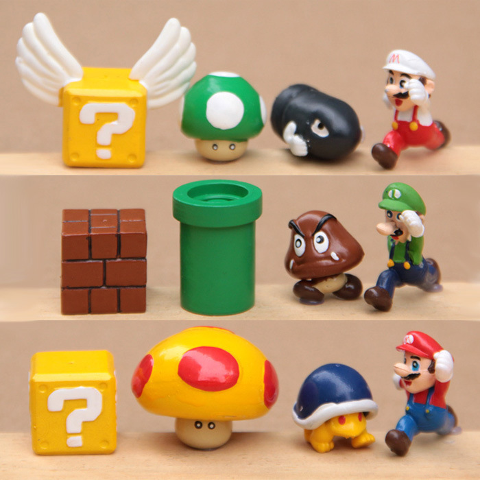 12 pcs Cartoon Cute funko pop toys doll of Super Mario Hand done Action  Figures Dolls DIY baby toys gift for kids or adult-in Action   Toy Figures  from Toys ... 787a1751c