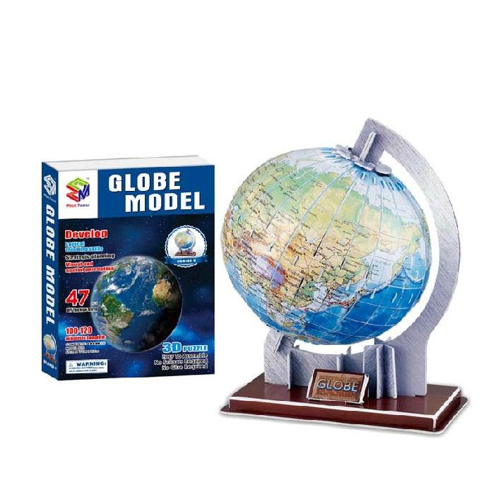 Educational creative stereo terrestrial globe tellurion sphere 3D paper jigsaw puzzle assembling model children kid gift