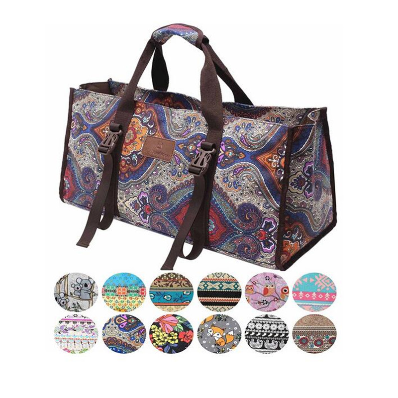 Canvas Gym Bag Big Space Waterproof Fitness Exercise Pack Pilates Handbags Unisex Sport Bag Training Fitness Bags Yoga Mat Bag multifunction canvas sport bag training gym bag waterproof sports gym bag backpack for women fitness yoga travel luggage bags