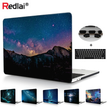 Redlai For Macbook 2018 New Air A1932 Case Pro Retina 13 15 Touch bar A1706/A1989 A1707/A1990 Magic Starry Sky Print Hard