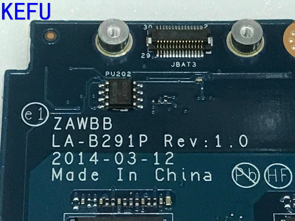 KEFU NEW ZAWBB LA-B291P FREE SHIPPING LAPTOP MOTHERBOARD FOR LENOVO B50-45 NOTEBOOK PC WITH A6 PROCESSOR ( compare please ) kefu 100% new stock 720692 501 da0r75mb6c0 free shipping laptop motherboard for hp pavilon 15 e 17 e notebook pc compare please