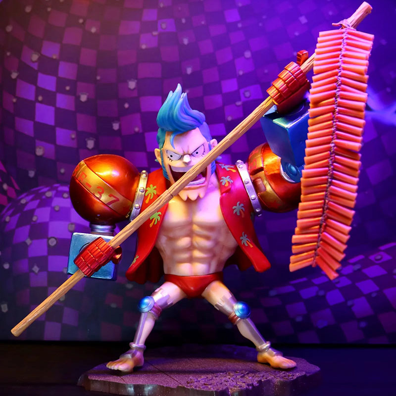 Frank One Piece Franky Action Figure 1/6 Scale Painted Figure Spring Ver Toys & Hobbies Franky Set Off Firecrackers Pvc Figure Toy Brinquedos Anime Colours Are Striking