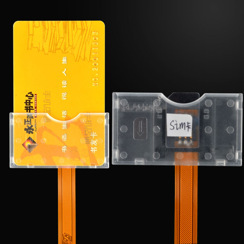 Sim Card Turn To Big Card Slot Converter Adapter Transparent Card Open Device Universal For Mobile Phones Sim Cards