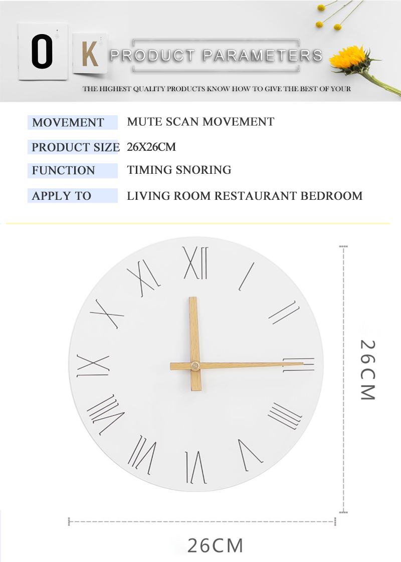 study clock watch office office table decoration flip calendar bamboo clock desk clock circular electronic desktop clock dementia clock (3)