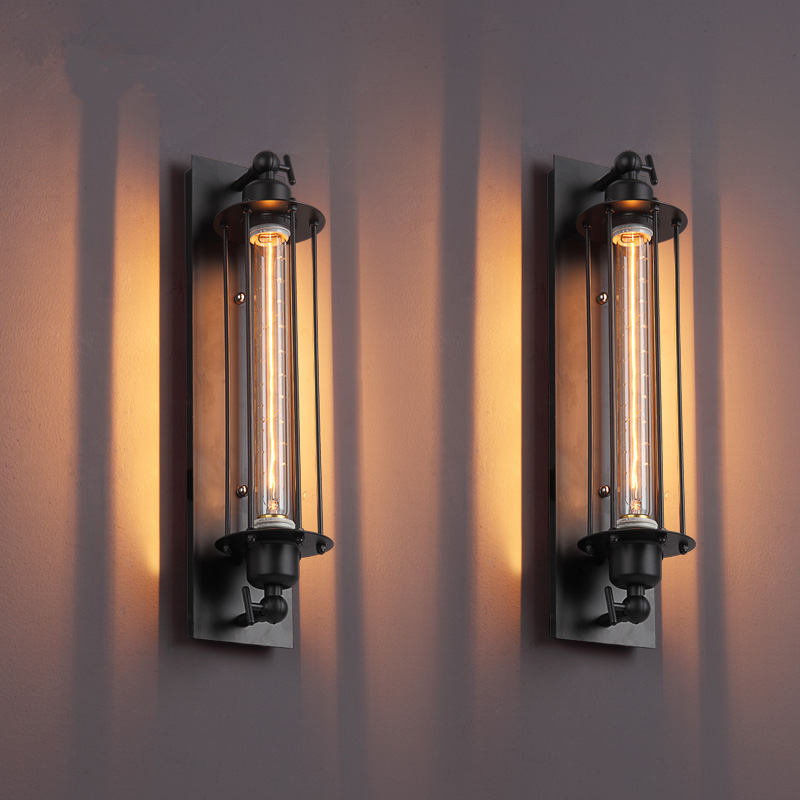 Loft Industrial American Vintage Wall Lamp Indoor Lighting Bedside Lamps Wall Lights for Home Edison Bulbs 110V/220V 40W WLL-338 american vintage 2 heads wall lamp indoor lighting bedside lamps double wall lights for home 110v 220v e27