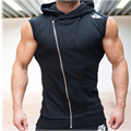 Mens Gymshark Hoodies Sleeveless Hooded Bodybuilding Fitness Vest Hoodie Sweatshirts Tops Masculina Hombre Muscle Sportwear