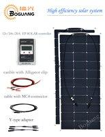 Boguang semi 100 w flexibele zonnepaneel 200 w solar module Hoge efficiency mobiele 20A EPSOLAR controller MC4 adapter kabel power