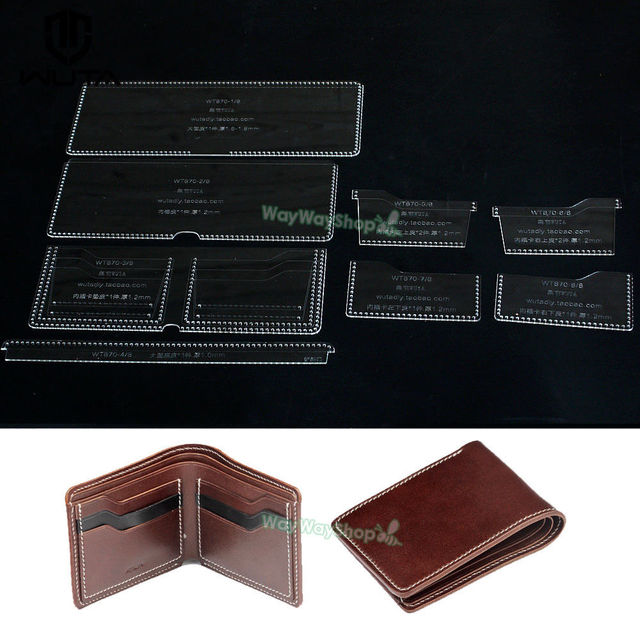 Wallet Template Clear Acrylic Patterns Leather handcraft model WT870 - wallet template