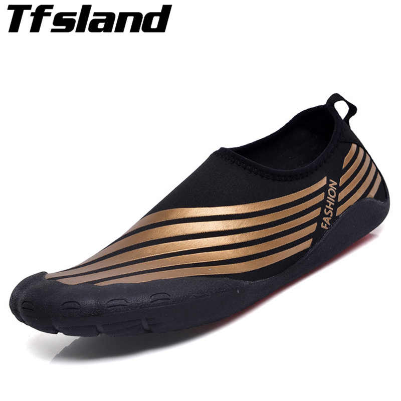 Water Shoes For Man Quick Drying Five Finger Aqua Shoes Swimming Water Shoes Summer Seaside Surfing Beach Yoga Shoes Sneakers 46