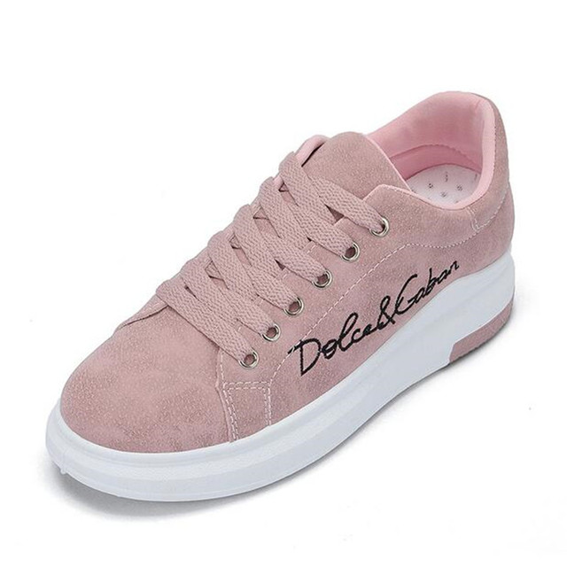 ELGEER 2018 Spring New Designer Wedges Pink Platform Sneakers Women  Vulcanize Shoes Tenis Feminino Casual Female 45ed412ec4ec