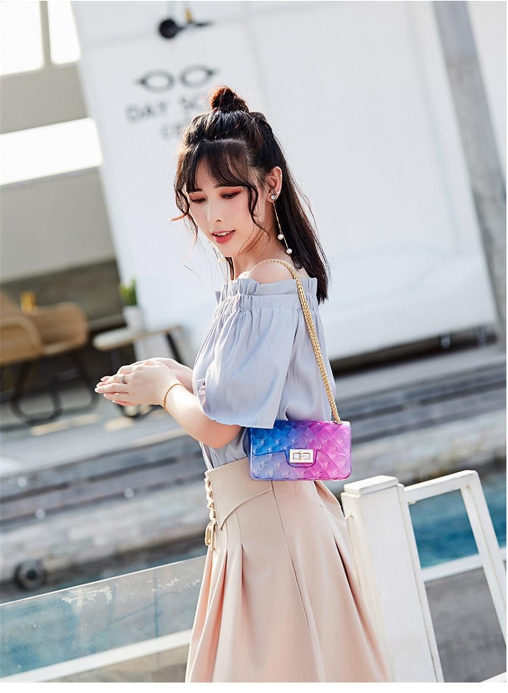 sacos gradiente doces cor senhora bolsa de ombro