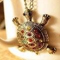 Venta al por mayor animal de moda pequeño collar de la tortuga de diseño a largo collar gualian vendimia gentlewomen elegantes regalos