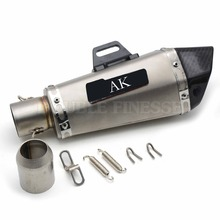 Motorcycle Akrapovic Exhaust pipe Scooter Muffler pipe Dirt Bike Parts For kawasaki versys 650 klx250 ninja 250 mt-07 mt09 mt07