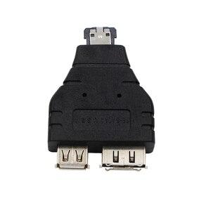 Image 4 - Power eSATA To eSATA  USB Combo Splitter Converter Adapter Connector Hard Disk Cable Dual Port Converters Universal