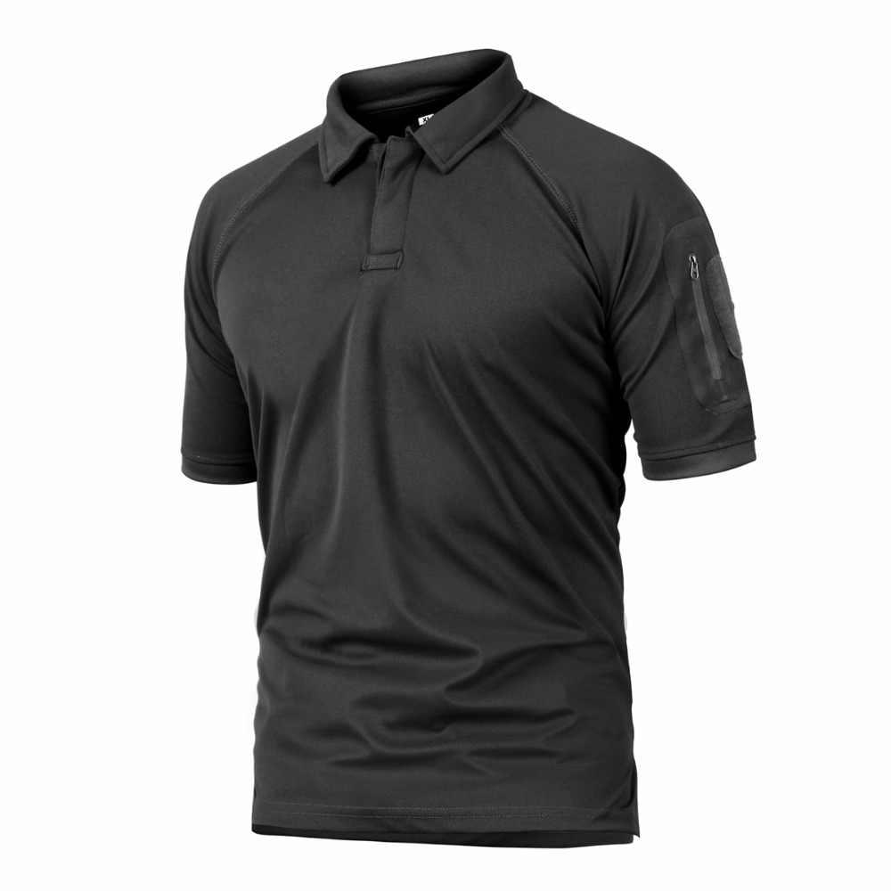 83358dda174 ... Unisex Hiking T Shirt Outdoor Camping Climbing Polo Shirts Quick Dry Men  Tactical Army T Shirt ...
