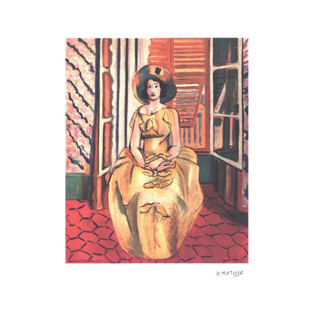 Henri Matisse – Yellow Dress, 24 x 17.75 in.