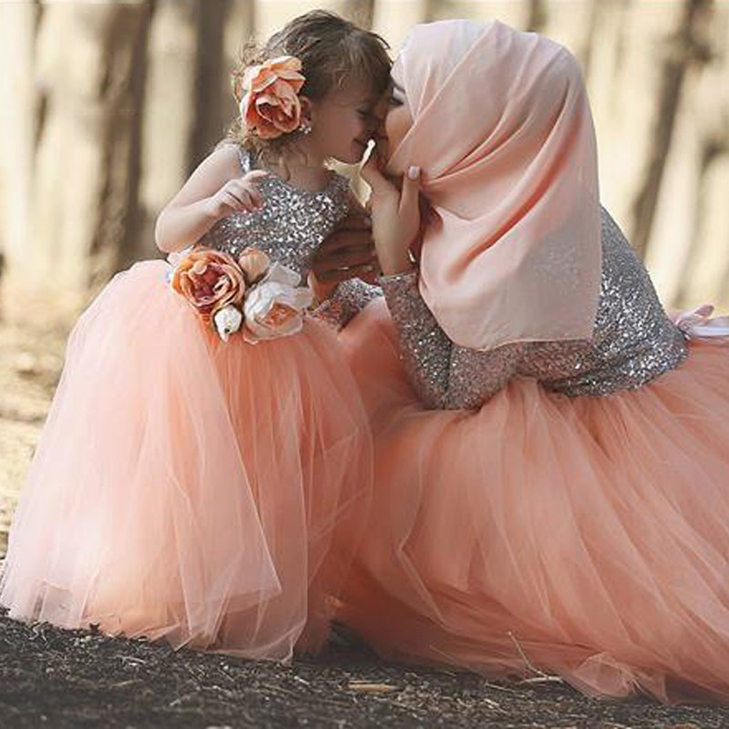 8169e322ea0 Cute Flower Girl Dresses Blush Pink Silver Sequin Ball Gown Pageant Dresses  for Little Girls Kids Evening Gowns Vestido Comunion-in Flower Girl Dresses  from ...