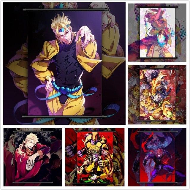 JoJo's Bizarre Adventure DIO BRANDO Anime manga wall Poster Scroll