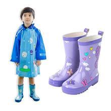 Дети Конфеты Цвет Дождь BootsChildren Весна Осень Мальчики Девочки Baby Дети Конфеты Цвет Дождь Сапоги Непромокаемую Обувь W4