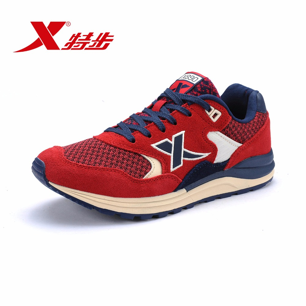 XTEP Brand retro Light women Running Shoes Athletic Sneakers Outdoor Sports Run Shoes Trainers Rubber Shoes 985418325608 wldslure 4pcs box 16g new artificial silicone soft sea fishing lures pesca sharp hook vib lead sinking lure bait wobbler