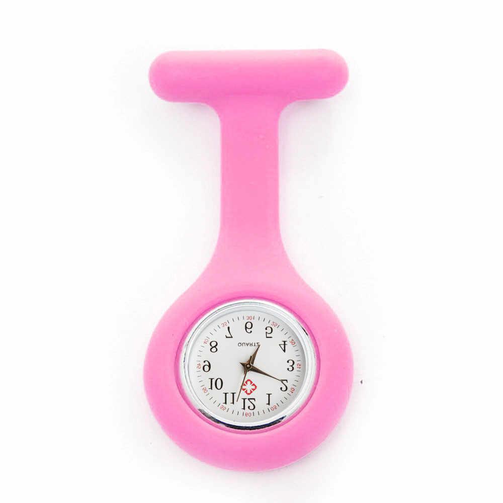 Лидер продаж Модные карманные часы Силикон Медсестра часы Брошь Туника Fob часы с бесплатной батареей доктор медицинский reloj de bolsillo