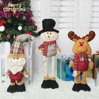 Top Sale Christmas Classic Cartoon Telescopic Christmas Doll Gifts Festival Decor Home Room Ornaments Tree Decorations