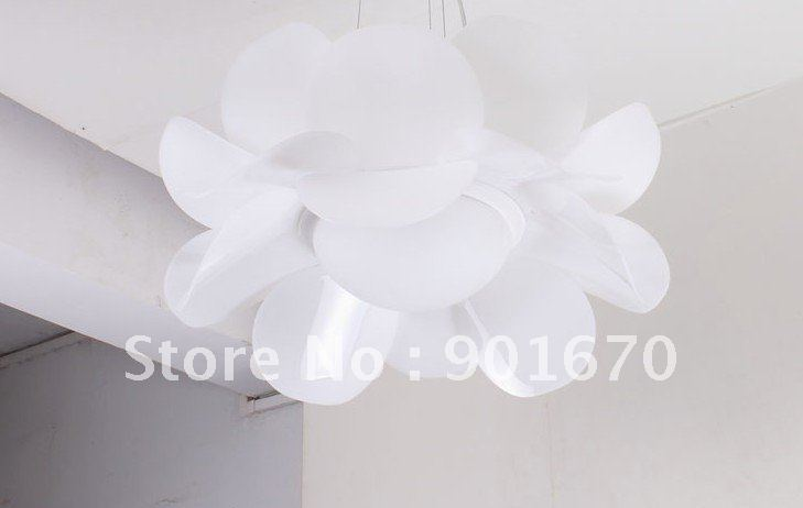 Free shipping d55cm white acrylic lotus flower modern pendant lamp free shipping d55cm white acrylic lotus flower modern pendant lamp chandelier wholesales residential dinning lighting hotel lamp in chandeliers from lights mightylinksfo