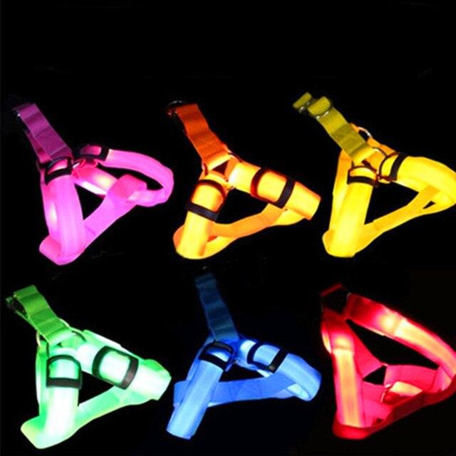 LED Pet Harness Leash Rope