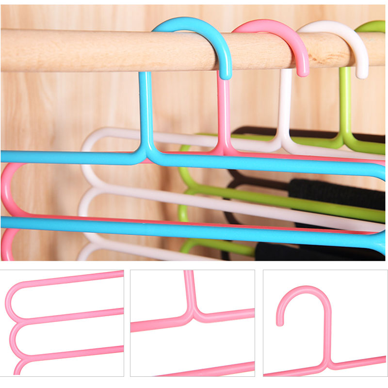 Image 4 - Five layer drying racks multi functional innovative hanger multi storey scarf racks anti slip pants folder Dropshipping X-in Storage Holders & Racks from Home & Garden