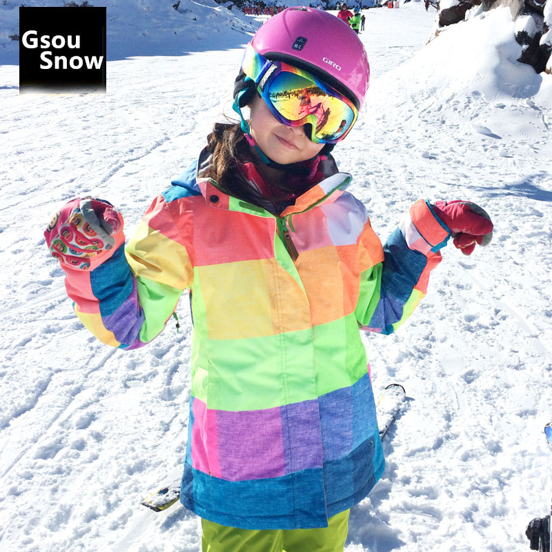 GSOU SNOW Hot  Women Snowboard Suit Outdoor sprots Ski Jacket Female Winter Over Coat 10K Waterproof warm Clothes Costume hot sale women ladies snowboard jacket waterproof breathable ski jacket female winter snow coat sport motorcycle anorak clothes