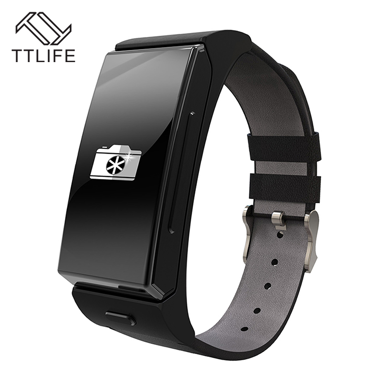 ФОТО TTLIFE Brand Sports Fitness Tracker Remote Camera Smartwatch With Heart Rate Monitor Removable Bluetooth Headset Smart Bracelet