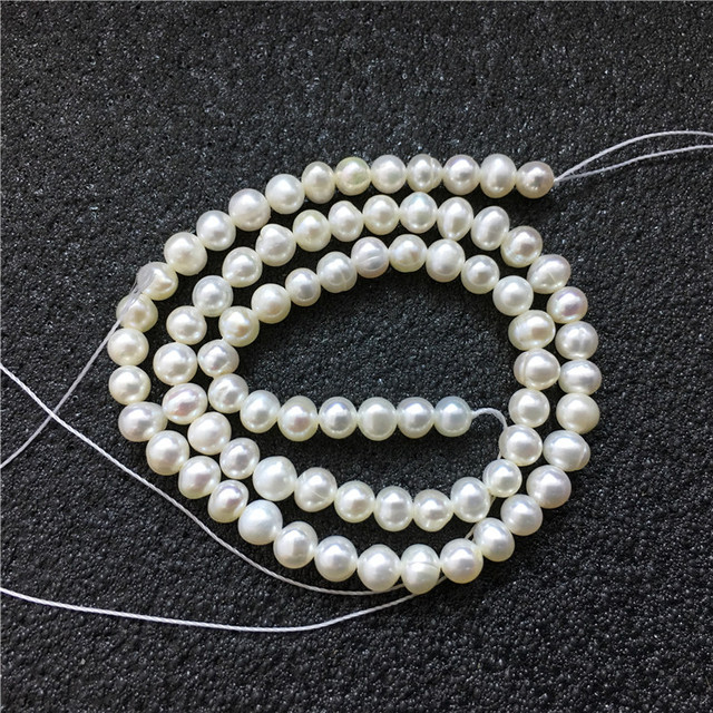 High Quality 4-5mm 100% Natural Freshwater Pearl Beads white Potato Pearl Loose Beads For DIY Necklace Bracelat Jewelry Making