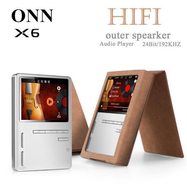 Original ONN X6 Hifi MP3 Reproductor de Audio con Pantalla HD FM Altavoz de Graves de Alta Resolución Apoyo APE/FLAC/ALAC/WAV/WMA/OGG/MP3