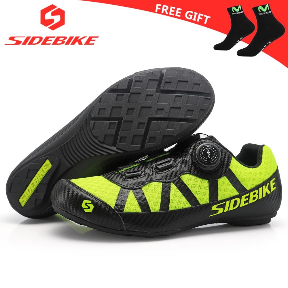 sidebike mtb shoes mountain bike non lock leisure road bike cycling shoes men women ultralight 565g