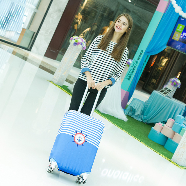 Travel Luggage Suitcase Protective Cover for Trunk Case Apply to 20 to 29 inch Suitcase Cover Thick Elastic Perfectly Luggage Covers