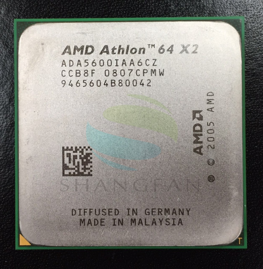 AMD Athlon X2 5600X2 5600 + 2.8 GHz ADA5600IAA6CZ Dual-Core CPU Processeur Socket AM2 940pin