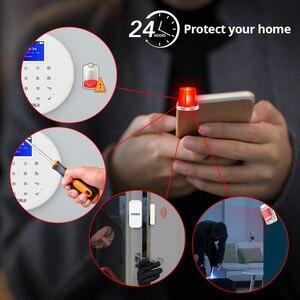 Image 5 - Yeni KERUI W17 TR RU ES DE BU FR ile Değiştirilebilir GSM Wifi Alarm Sistemi Anti Pet PIR sensör dedektörü dostu ile Pet Köpek Ve Kedi